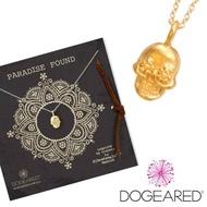 【Dogeared】paradise found 骷髏頭 925純銀14k金項鍊(祈願項鍊)