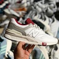 南2019 1月 NEW BALANCE Cm997hga 復古 慢跑鞋 男女鞋 麂皮 白灰紅色 997 微奶油底