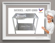 CAM Brand DIY Stainless Steel Single Bowl Kitchen Sink with Stand / Sinki Dapur Stainless Steel