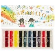 日本KOKUYO 新透明水彩蠟筆10色