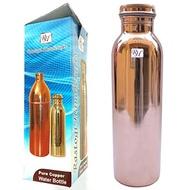 Rastogi Handicrafts Copper water bottle joint free leak proof 900 ml Pure Copper - Solid Copper Indi