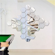Hexagonal Stereo Mirror Wall Sticker Restaurant Aisle Stairs Personality Decorative Mirror Sticker Hexagon Frame