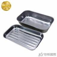 台灣製 430不銹鋼多用途保鮮烤盤|兩款可選|長x寬x高至商品圖查看|烤箱烤盤|蒸盤|方盤【TW68】