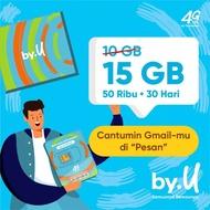 By.U 15 GB 50 Ribu 30 hari