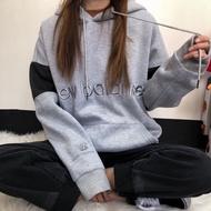 【HA】New Balance 刺繡 加絨保暖 拼色 情侶款 連帽衛衣 New Balance 帽t