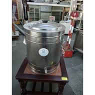 [龍宗清] 新霖牌白鐵保溫茶桶 (19010199-0581)不銹鋼保溫茶桶 保溫飲料桶 泡沫紅茶桶 不鏽鋼茶桶