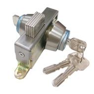 OK301 不銹鋼地鎖 單頭 隱藏式地鎖 門厚3-4CM OK地鎖 暗閂鎖 玻璃門鎖 玻璃鎖(半邊鎖門閂面板鎖門栓)