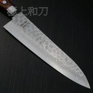 大馬士革VG10不鏽鋼夾鋼主廚刀日本進口菜刀 一心刃物 牛刀