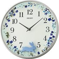 SEIKO精工 跳躍小兔掛鐘(QXC238N)-藍/33mm