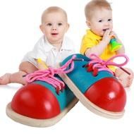 兒童系鞋帶玩具 練習穿繩子扣鞋帶益智教具幼兒園木制玩具2-6歲