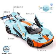 ╭。柚趣模型。╮ 1:32 Ford GT40 福特 GT 賽車版 跑車合金模型 聲光回力汽車模型 高仿真模型汽車 兒童