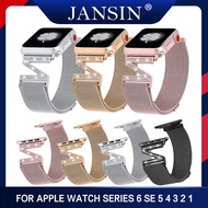 Jansin Milanese Loop Bracelet Diamond Strap For Apple Watch 5 Band 40mm For iWatch Series 1/2/3/4/5 38mm 40mm Stainless Steel Strap Women