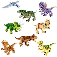 For Legoing Dinossauro Jurassic World Tyrannosaurus MOC Triceratops Animal Toy Set Legoings Building Blocks Dinosaur Pterosaur Park Figures Big Size Animals Compatible
