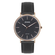 【LICORNE】力抗錶 極簡主義紳士手錶(黑 LT146MRBB)