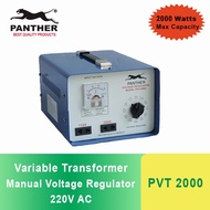 Panther PVT 2000 Manual Voltage Regulator / Variable Transformer 2000 Watts, Output 110V and 220VAC
