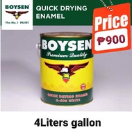 BOYSEN paint quick dry enamel white 4L