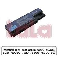 全新優質電池 acer aspire 6930 6930G 6935 6935G 7520 7520G 7530G 6芯