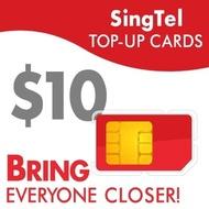 SingTel $10 Top-Up