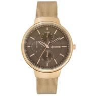 【LICORNE】力抗錶 知性高雅三眼手錶(玫瑰金/咖啡 LT144LRDI)