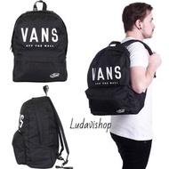Vans bag backpack black 黑 後背包 白 休閒包 上課包