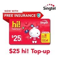 Singtel Prepaid E-Top Up $25