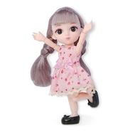 16ซม.Pretend เล่นของเล่นตุ๊กตาเจ้าหญิง DIY น่ารักเครื่องประดับสำหรับสาว3D Travel กระเป๋าเดินทางรถไฟกระเป๋าเดินทางสำหรับ Barbie ตุ๊กตาของขวัญเด็ก