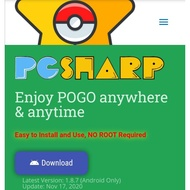 PGSharp Key spoofing app for pokemon go *android can use in fb and email.