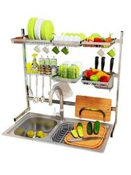 304不銹鋼水槽碗架瀝水架廚房置物架晾放碗架收納籃水池碗碟架子
