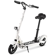 (GBTIGER) GBtiger A3 Electric Scooter Two-wheel Folding Board with Lamp,Black-19658-HZR-US