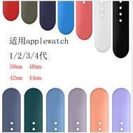 ใช้กับ Apple นาฬิกาข้อมือซิลิโคนกีฬาสายคล้อง Applewatch5 Monochrome Serise4-3-2-1ผู้ชายและผู้หญิง