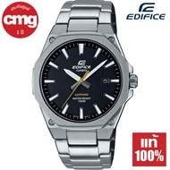 Casio Edifice Super Slim กระจกแซฟไฟร์ นาฬิกาข้อมือผู้ชาย สายสแตนเลส รุ่น EFR-S108D ของแท้ ประกัน CMG