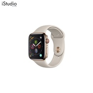 AppleWatch Series4 GPS+Cellular, 40mm Gold Stainless Steel Case with Stone Sport Band [iStudio by UFicon]