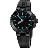 Oris Aquis 時間之海潛水300米日期機械錶(0173376524725-0741834B)藍/36mm