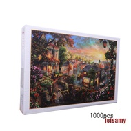 [jei] 1000PCS Jigsaw Puzzles Educational Toy Scenery Quiet Town Adult Kid Puzzle ming