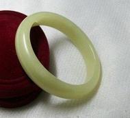 玉石玉器真玉鐲子 岫玉手鐲黃寬邊中大號特價