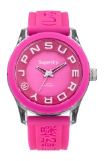 SUPERDRY TOKYO HOT PINK SILICONE  STRAP WATCH SYL146P - intl