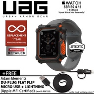 Uag Watch Case For Apple Watch Series 4 / 5 - 44Mm ( Black / Orange ) + Free 1Pcs Usb Adam Element
