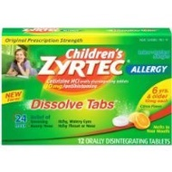 [USA]_Zyrtec Childrens Allergy Dissolve Tablets, Citrus, 12 Count SOLD BY Prefectmart THANK YOU