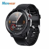 2020 ใหม่ Microwear L15 สมาร์ทนาฬิกาผู้ชาย IP68 กันน้ำ smartWatch ECG PPG ความดันโลหิต Heart Rate กีฬาฟิตเนส Smartwatch
