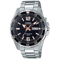 CASIO 卡西歐  指針男錶 不鏽鋼錶帶 防水100米 星期/日期顯示 MTD-1079D-1A3