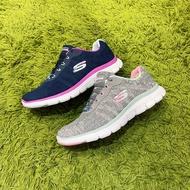Skechers 運動 休閒 舒適 女款  雪花灰  深藍 慢跑鞋  運跑鞋  149570w/nvpr