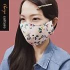 珠友官方獨賣 韓國花布兩用立體口罩/口罩套/多層防護/透氣/水洗/防疫用品/口罩收納01花賞