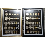 Philippine Coins 5 series-1 frame set 1958-1994 (Mixed condition/Uncirculated)