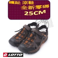 LOTTO 護趾涼鞋 25cm  LT8AMS6103 咖啡