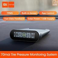 MI Xiaomi 70mai TPMS Tire Pressure Monitor Tpms Solar Power Usb Android USB Tmps 70 Mai Car Sensors System Alarm