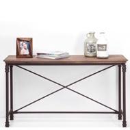 法蝶Pole玄關桌寫字桌書桌長桌端景桌實木鐵件陳列品半二手