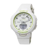 CASIO นาฬิกาข้อมือ Baby-G บลูทูธสมาร์ทโฟน Interlocking G-SQUAD Jisu Quad-BSA-B100SC-7A สีขาวสีขาวมะนาวเด็กผู้หญิงสำหรับสตรีนาฬิกาการฝึกอบรมนาฬิกาวัดก้าวเดินอัจฉริยะการบริโภคแคลอรี่การคำนวณ Records Management