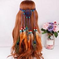 新款捕夢網羽毛髮帶 髮箍髮飾印第安羽毛頭飾