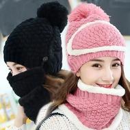 【EZlife】女士防風保暖帽三件套