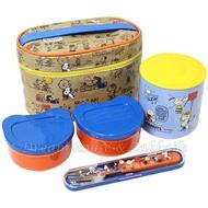 日本進口 Snoopy 史努比 保溫 便當盒/保鮮盒 組合 《 保溫罐/便當盒/保溫袋/餐具 一次擁有 》★ Zakka'fe ★